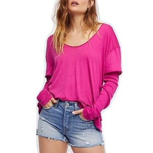 Free People We the Free Magic Tee Magenta Pink XS